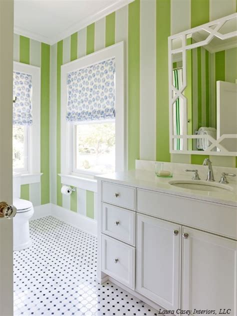 striped bathroom striped bathroom walls trellis mirror