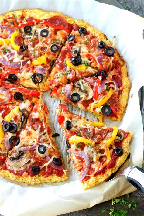 Http Www Furtherfood Recipe Detox Friendly Cauliflower Pizza Gluten Free by Loaded Pizza On Cauliflower Crust S Cravings
