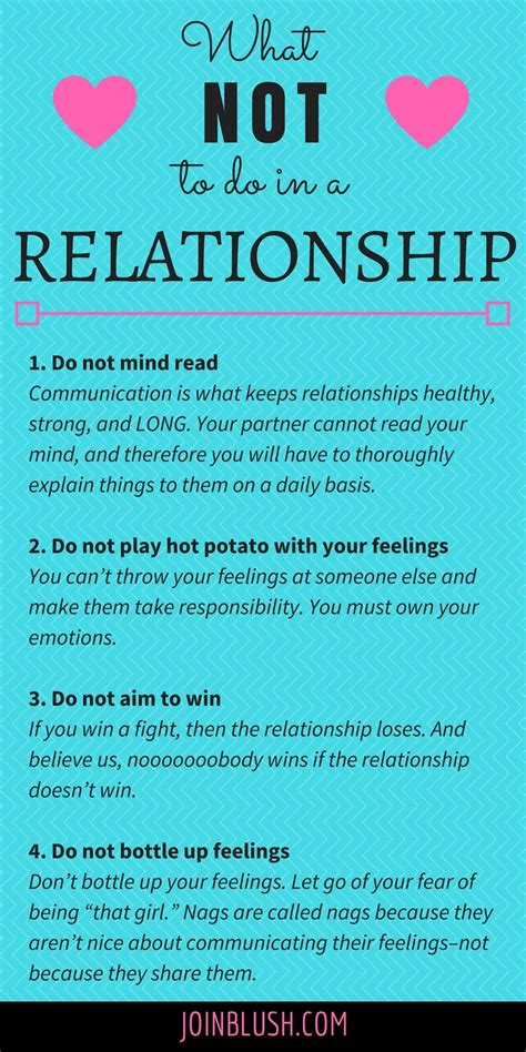 7 Daily Relationship Tips For Your by What Not To Do In A Relationship Relationships