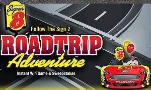 Veranda Magazine Sweepstakes 2014 - sweepstakes super 8 follow the sign 2 road trip adventure instant win game