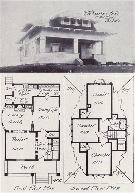 western floor plans 1908 western home builder no 40c oh my house