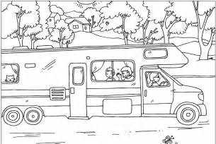 RV Camper Coloring Page sketch template
