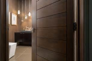 Vegas modern home interior solid wood walnut door modern bathroom
