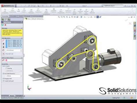 sketchup assembly tutorial belts and chains in solidworks youtube dise 241 o