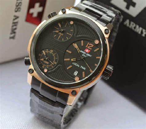 Jam Tangan Swiss Army Pria Hb1572 Black Ring Silver jual jam tangan swiss army sa2201m time date black