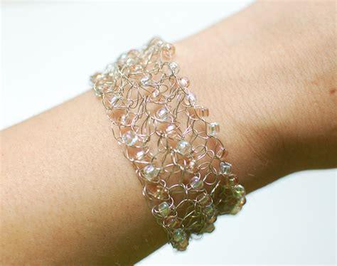 beaded wire crochet bracelet pattern petals to picots