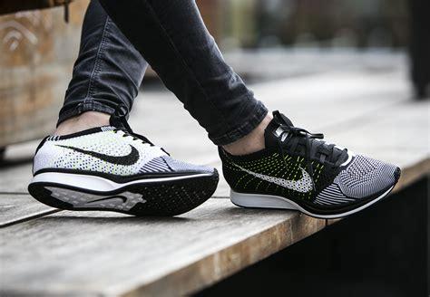 Nike Flyknit Racer Black White Revolt Nike Flyknit Racer Black White Volt On Graysands Co Uk