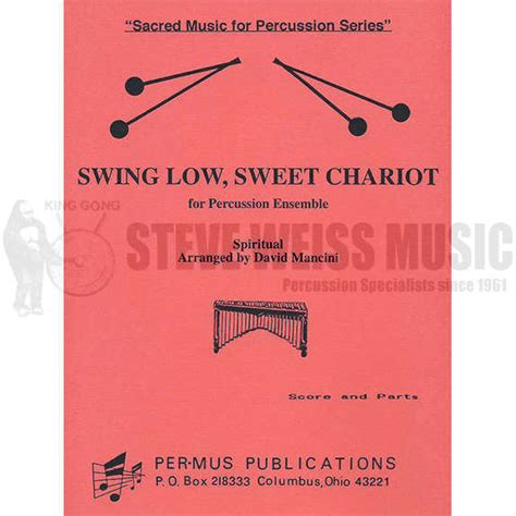 swing low sweet chariot audio swing low sweet chariot arr david mancini percussion