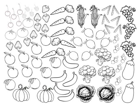 Fruits And Vegetables Coloring Sheet Fruits And Vegetables Coloring Pages Pdf