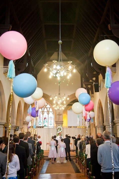 Wedding Aisle Balloons by Chandelier Wedding Decor Colorful Balloons Aisle
