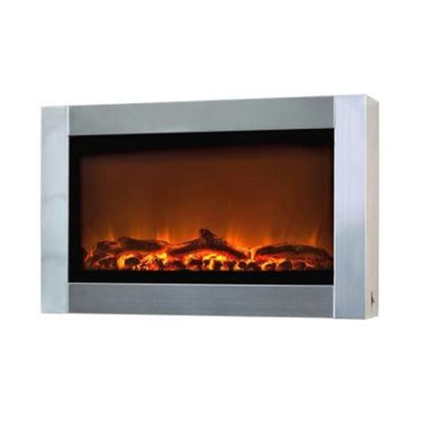 Home Depot Wall Fireplace by Sense 31 In Wall Mount Stainless Steel Electric