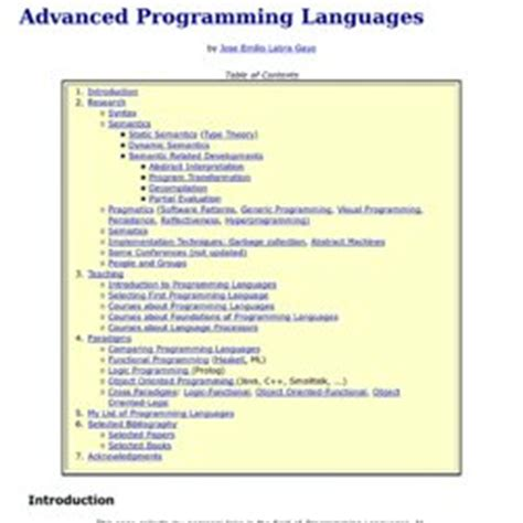 Programming Languages Research Papers by Introduction For A Cse Style Research Paper