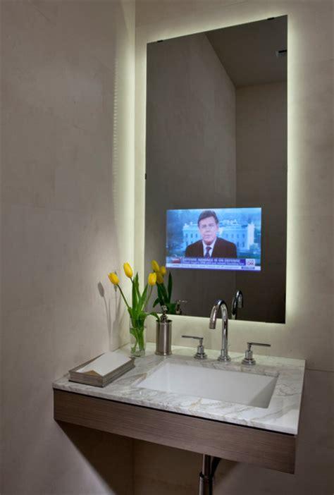 in mirror tv for bathroom in mirror tv lighted mirror contemporary bathroom
