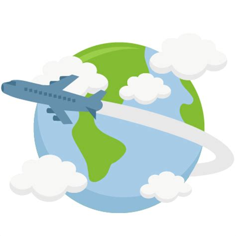 Sul Pasport Transparant airplane flying around world svg cutting file earth svg cut file for cricut vacation svg cut