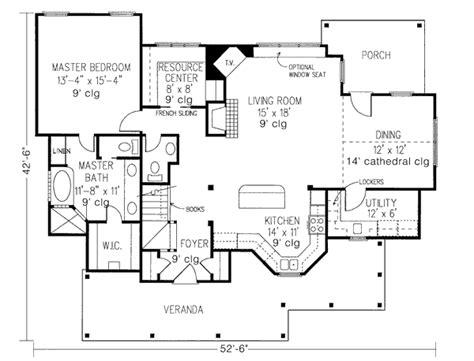 veranda floor plan picturesque front veranda 1980gt architectural designs