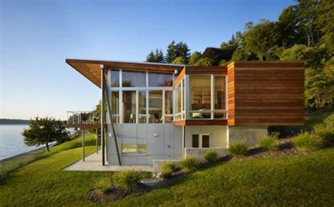 Wooden Beach House Design Vashon Island Cabin