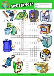 Small Home Appliances Crossword Appliances Esl Printable Worksheets For 1