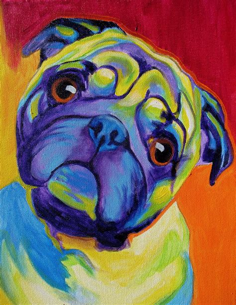 pug painting pug lyle painting by vannoy call