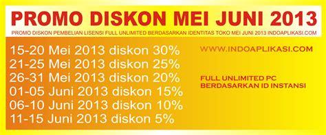 Promo Diskon Promo Diskon Promo Diskon Promo Special Powerbank Solar promo diskon pembelian lisensi unlimited berdasarkan identitas toko mei juni 2013