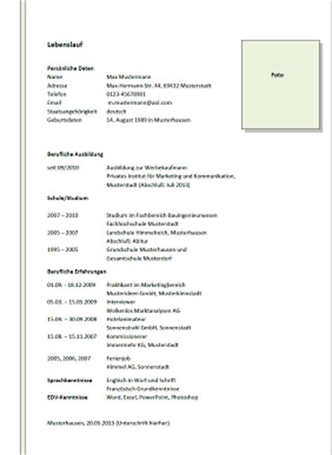Lebenslauf Englisch Muster Schweiz Lebenslauf Muster Muster Lebenslauf