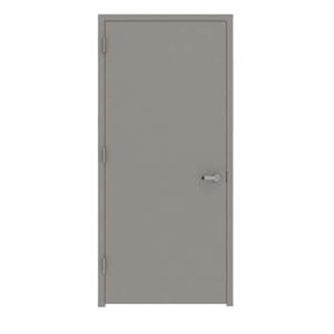 Metal Doors Home Depot by L I F Industries 30 In X 80 In Gray Flush Right