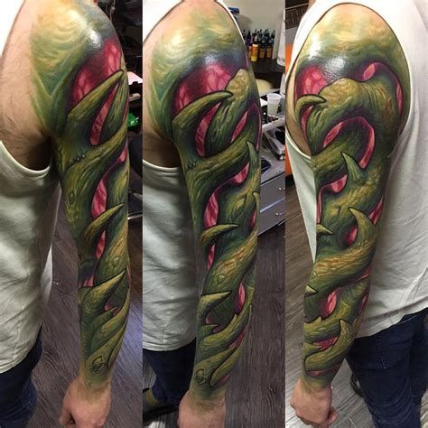 bioorganic vines realistic sleeve best tattoo design ideas