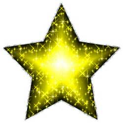 Large yellow glitter star with silver outline glitter graphic