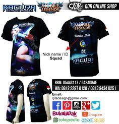 Kaos T Shirt Fullprint Bahan Premium Mobile Legends Miya Mobile Legends Jersey Mobile Legends Bahan Fit