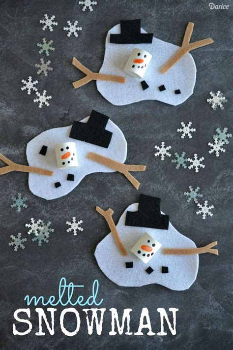 8 Winter Crafts For by Best 25 Melted Snowman Ideas On Cake