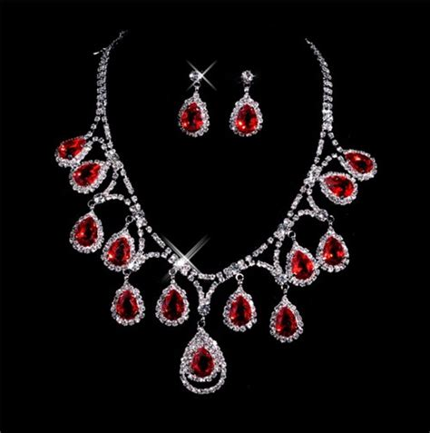 beautiful ruby s jewelry set including necklace