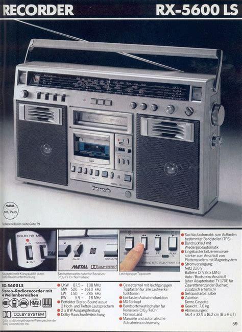 1980 1981 Audio Radios And Audio 19 best panasonic images on boombox audio and