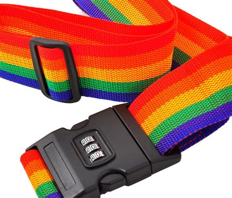 Plastik Vakum Kompresi 1pcs Vb70 travel rainbow luggage coded lock suitcase belt stripe
