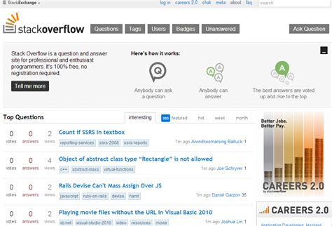 visitor pattern stackoverflow how to create a website like stackoverflow