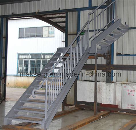 Galvanized Handrail by China Galvanized Steel Stairs With Handrails China Stair