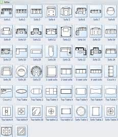 floor plan icons symbols for floor plan sofa
