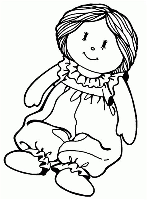 toys coloring pages preschool rag doll toy free printable coloring pages
