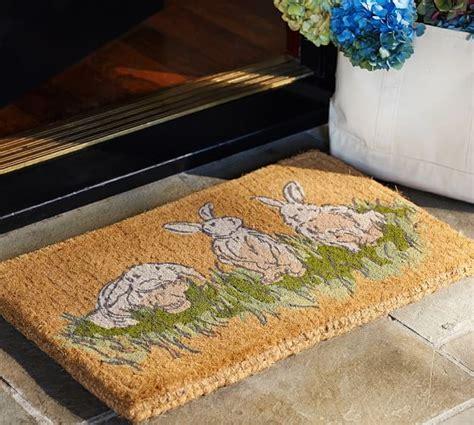 Rabbit Doormat hilltop garden bunny doormat pottery barn