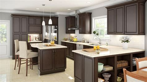 espresso kitchen cabinets with granite kitchen
