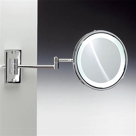 wall mounted lighted magnifying bathroom mirror pkgny com shop nameeks windisch chrome brass magnifying wall mounted