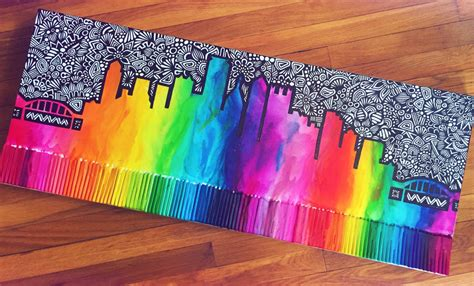 crayons designs custom city skyline crayon melt
