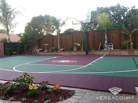 outdoor basketball court versacourt indoor outdoor backyard basketball courts
