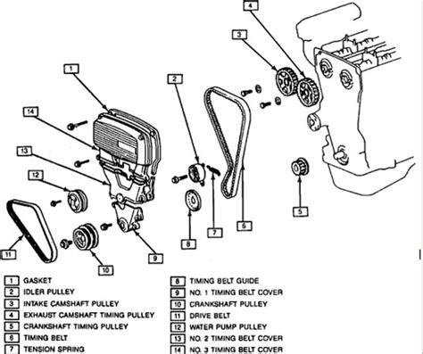 service manual 1992 geo prizm crank pulley removal instructions for replacing a timing belt in a 92 geo prizm