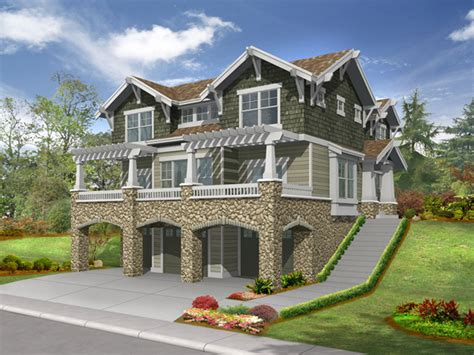 Raised House by Lesparre Raised Craftsman Home Plan 071d 0248 House