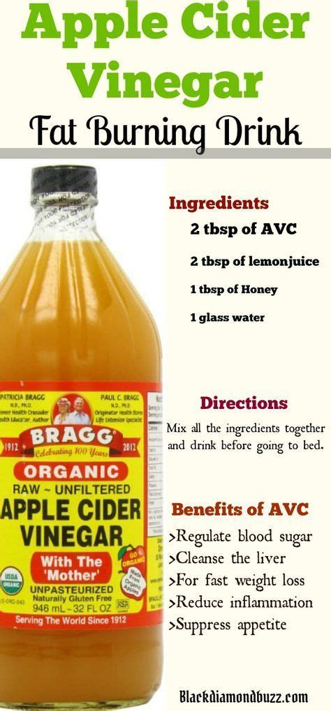 How To Make An Apple Cider Vinegar Detox Drink by Best 25 Apple Cider Vinegar Detox Ideas On