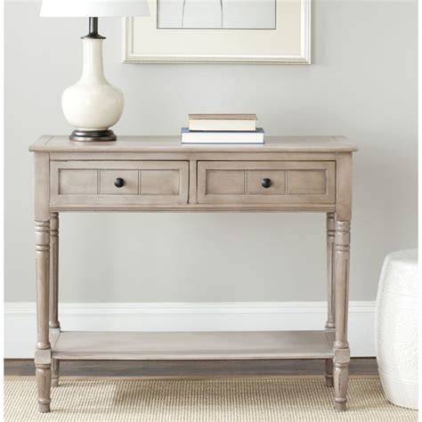 grey console table with drawers safavieh cape cod grey 2 drawer console table