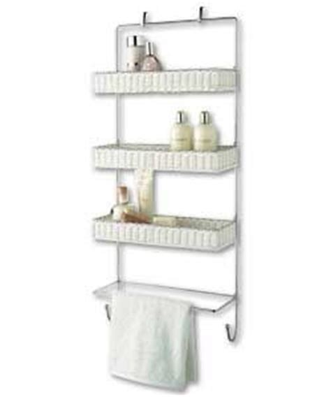 White Rattan Over Door Storage Tidy Bathroom Pinterest White Rattan Bathroom Storage