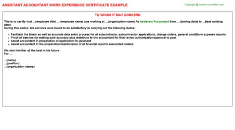 Work Experience Certificate Definition 100 Resume Sle For Accountant Position 20 Accountant Resume Exles Free U0026 Premium
