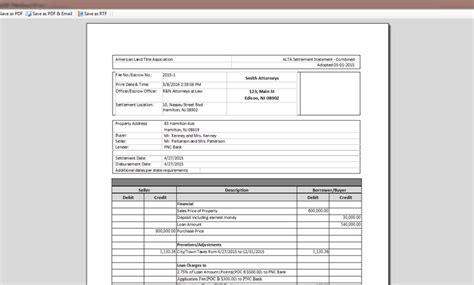 settlement statement template alta settlement statement easy soft