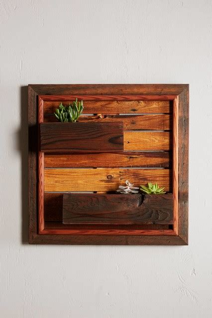 indoor wood planter reclaimed wood wall planter rustic indoor pots and