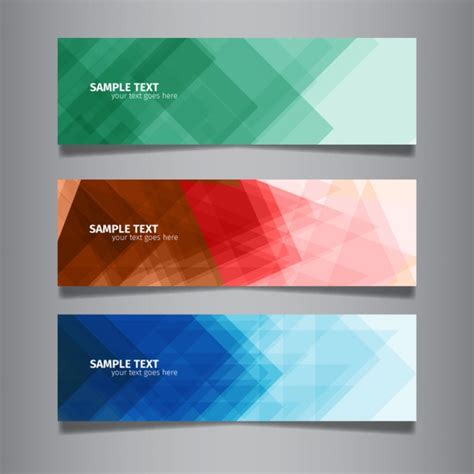 layout de banner gratis modern abstract colorful web banners vector free download
